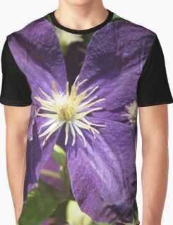 Purple Clematis from A Gardener's Notebook Graphic T-Shirt