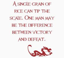 A single grain of rice can tip the scale. One man may be the difference between victory and defeat. - Mulan - Walt Disney Kids Clothes