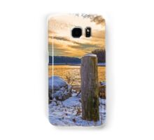 Snowy Lake With A Beautiful Sunset Samsung Galaxy Case/Skin
