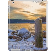 Snowy Lake With A Beautiful Sunset iPad Case/Skin