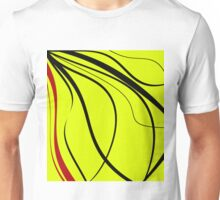 Yellow, red and black design by Moma Unisex T-Shirt