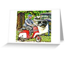 Motorcycle ride Greeting Card