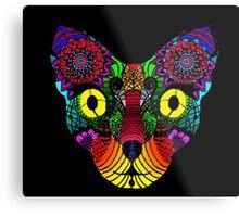 Psychedelic Cat Metal Print