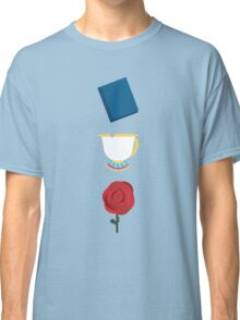 Books, Cups, and Roses Classic T-Shirt