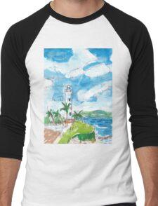 Galle Fort Lighthouse Men's Baseball ¾ T-Shirt