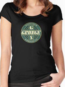Seattle sound grunge washington Women's Fitted Scoop T-Shirt
