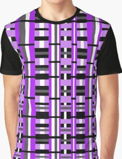 Plaid in Purple, Black & Gray Graphic T-Shirt