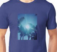 Palm trees & sun (colors edited) Unisex T-Shirt