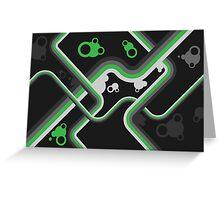 Graphic Linework Illustration - Green Greeting Card