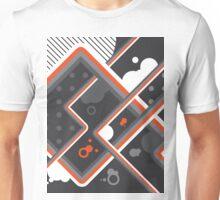 Graphic Linework Illustration - Orange Unisex T-Shirt