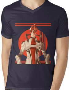 Scientist Salarian Mens V-Neck T-Shirt