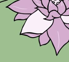 Japanese Lotus & Lily Sticker