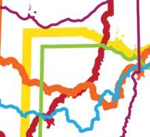 ohio pride blur Sticker