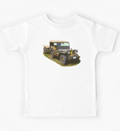 Willys World War Two Army Jeep Kids Tee