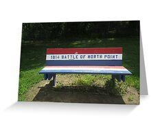 Park Bench at Fort Howard Park Greeting Card