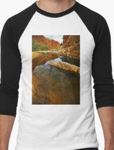 Glen Annie Gorge, Central Australia Men's Baseball ¾ T-Shirt