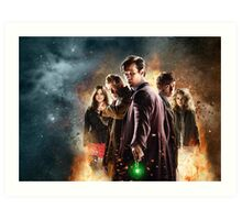 Doctor Who 50th Anniversary Art Print