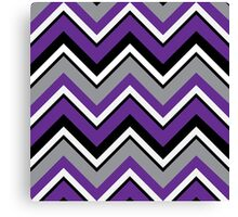Zigazag - Purple  Canvas Print