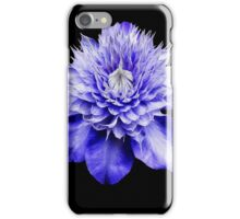 Dancing Purple Clematis Blossom iPhone Case/Skin