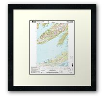 USGS TOPO Map Alaska AK Cordova C-6 355195 2000 63360 Framed Print