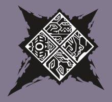 Monster Hunter Generations/Cross Logo Kids Tee