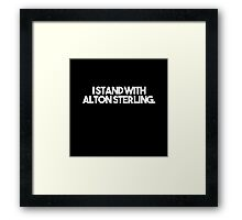 Alton Sterling. Framed Print