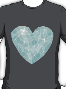 Frozen heart in Abstract triangles - polygons style T-Shirt
