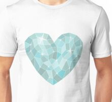 Frozen heart in Abstract triangles - polygons style Unisex T-Shirt