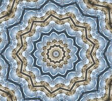 Light and Dark Blue and Brown Kaleiduscope-Mandala by pASob-dESIGN