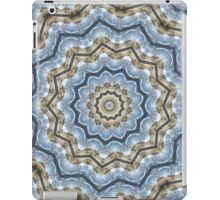 Light and Dark Blue and Brown Kaleiduscope-Mandala iPad Case/Skin