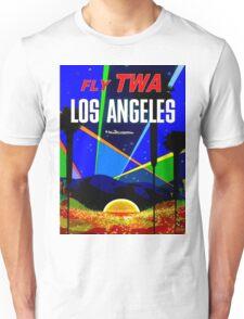 """TWA"" Fly to Los Angeles Travel Print Unisex T-Shirt"