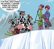 The Skiing Cows  by Rick  London