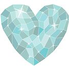 Frozen heart in Abstract triangles - polygons style by Tatiakost