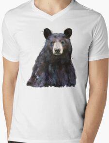Black Bear Mens V-Neck T-Shirt