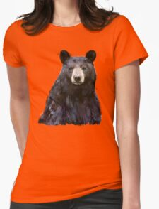 Black Bear Womens Fitted T-Shirt
