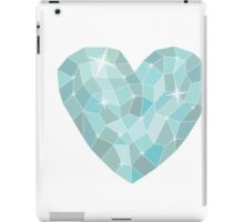 Frozen heart in Abstract triangles - polygons style iPad Case/Skin
