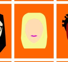 Orange is the New Black Inspired Minimalist Design Sticker