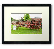 Antique Peanut Picker/Hay Baler Framed Print