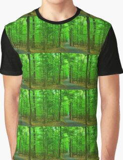 Green Trees - Impressions of Summer Forests Graphic T-Shirt