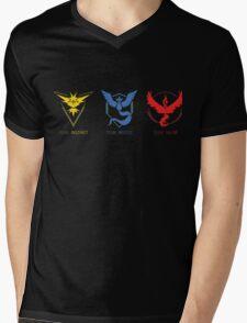 Three Teams Mens V-Neck T-Shirt