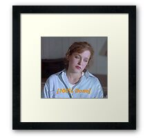 Dana Scully is So Done  Framed Print