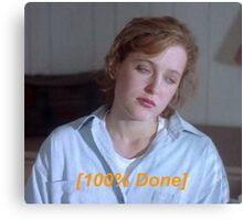Dana Scully is So Done  Canvas Print