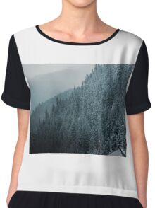 Evergreens in the Mountain Chiffon Top