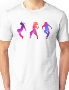 Colourful Jumping And Dancing People Silhouette Unisex T-Shirt