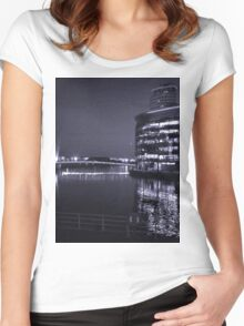 The Water at Night Women's Fitted Scoop T-Shirt