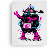 Robots Need Love, Too! Canvas Print