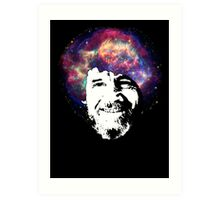 Bob Ross Shirt & Sticker  Art Print
