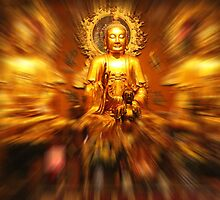 Zoom burst Buddha by indiafrank