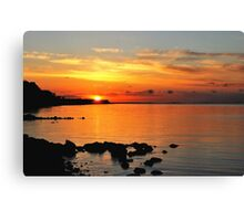 When the sun went down at the Baltic Sea Canvas Print