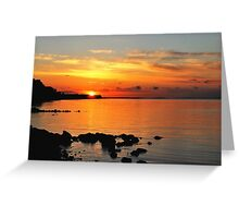When the sun went down at the Baltic Sea Greeting Card